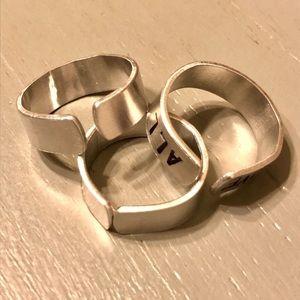 handmade Jewelry - Custom hand stamped aluminum rings
